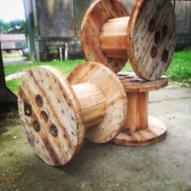 Small Wooden Cable Reel / Spool / Drum