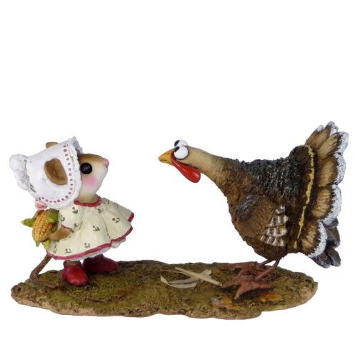 Wee Forest Folk COB GOBBLER,  WFF# M-558, Thanksgiving Pilgrim Mouse