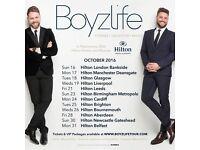 Boyzlife Tour Tickets x 2, Hilton Tree Tops Hotel, Aberdeen, Fri 28 Oct 16