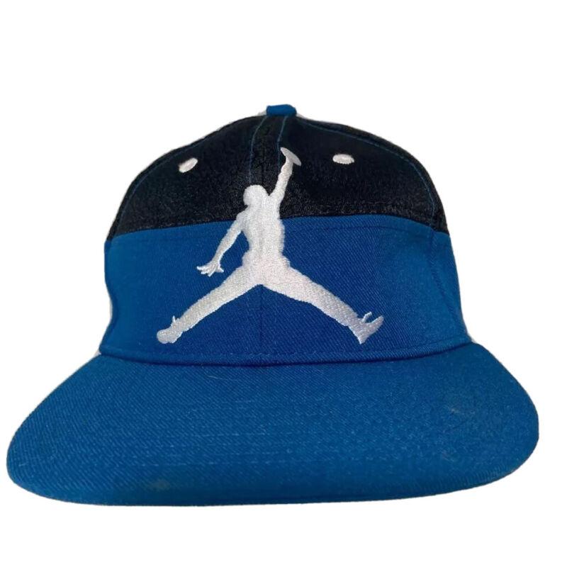 Air Jordan Boys Jumpman Baseball Cap Blue White Color Block Snap Back Youth