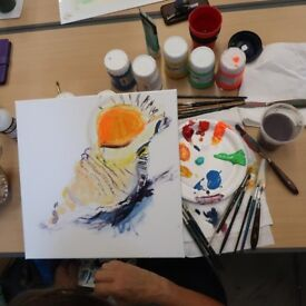 Painting and drawing class