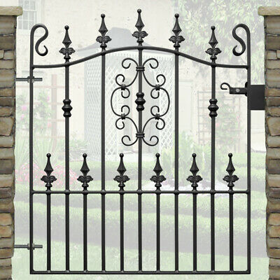 Safety Spear Top Garden Gate - 2ft 9in Opening | Wrought Iron Metal Steel Gates