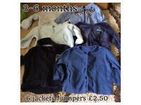 Baby boys 3-6 month clothes