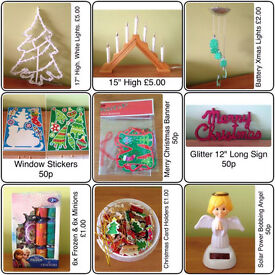 CHRISTMAS DECORATION/LIGHTS/CRACKERS ~ SELL SEPARATELY OR AS A BUNDLE