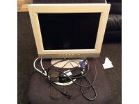 CMV 15-inch TFT LCD Flat Panel Monitor, monitor cable and power cable,