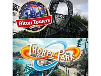 Thorpe park or Alton towers tickets!