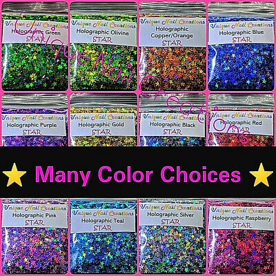 STAR Glitter⭐U Choose Color~Nail Art•Acrylic•Gel•Body Art•Face•Festival•Crafts