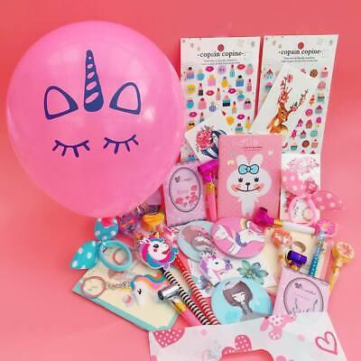 10 ITEMS Pre Filled Luxury Teenage Girls Party Bag Unicorn Kawaii Pink Loot Kids
