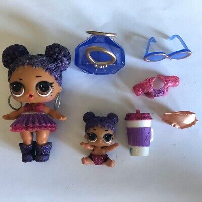 Lol Doll Pearl Surprise Purple queen & baby