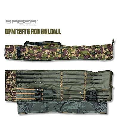 Saber Fishing Tackle DPM Camo 6 Rod Holdall / Bag  Carp Luggage takes Reel on