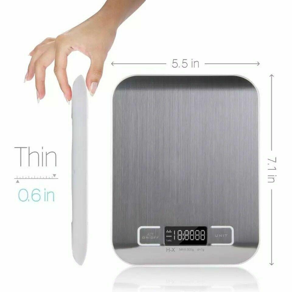 Digital Electronic Kitchen Food Diet Postal Scale Weight Balance 5KG / 1g 11lb Home & Garden