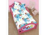 Brand New Kids Children My Little Pony Cot Bed Junior Toddler Bed Without Mattress - Pink