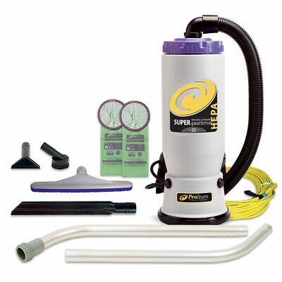 Proteam 107108 Super Quartervac Backpack Vacuum W 107098 Kit Plus 20 Bags