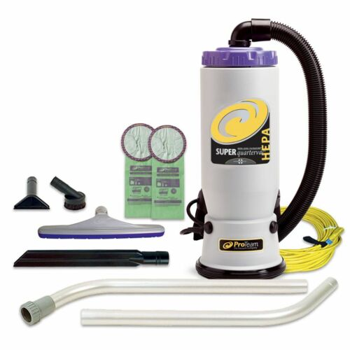ProTeam 107108 Super QuarterVac Backpack Vacuum W/ 107098 Kit Plus 20 Bags