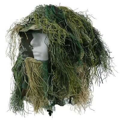 Gillie Suit Kopftarn Tarn 101 Airsoft Paintball Camouflage Camo Sniper Bounce