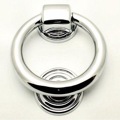 Designer & Contemporary Polished Chrome 100mm Ring Door Knocker Stunning