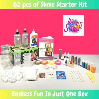 INFINITE Slime 62 PC DIY Slime Kit for Kids | Slime Making Kit with Elmer's Glue](Slime Kit)