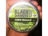 Whitening tooth powder 100% activated carbon . **