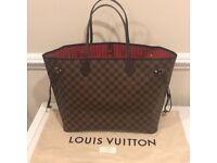 Louis Vuitton Neverfull Designer Bag Clutch Bag Travel Bag