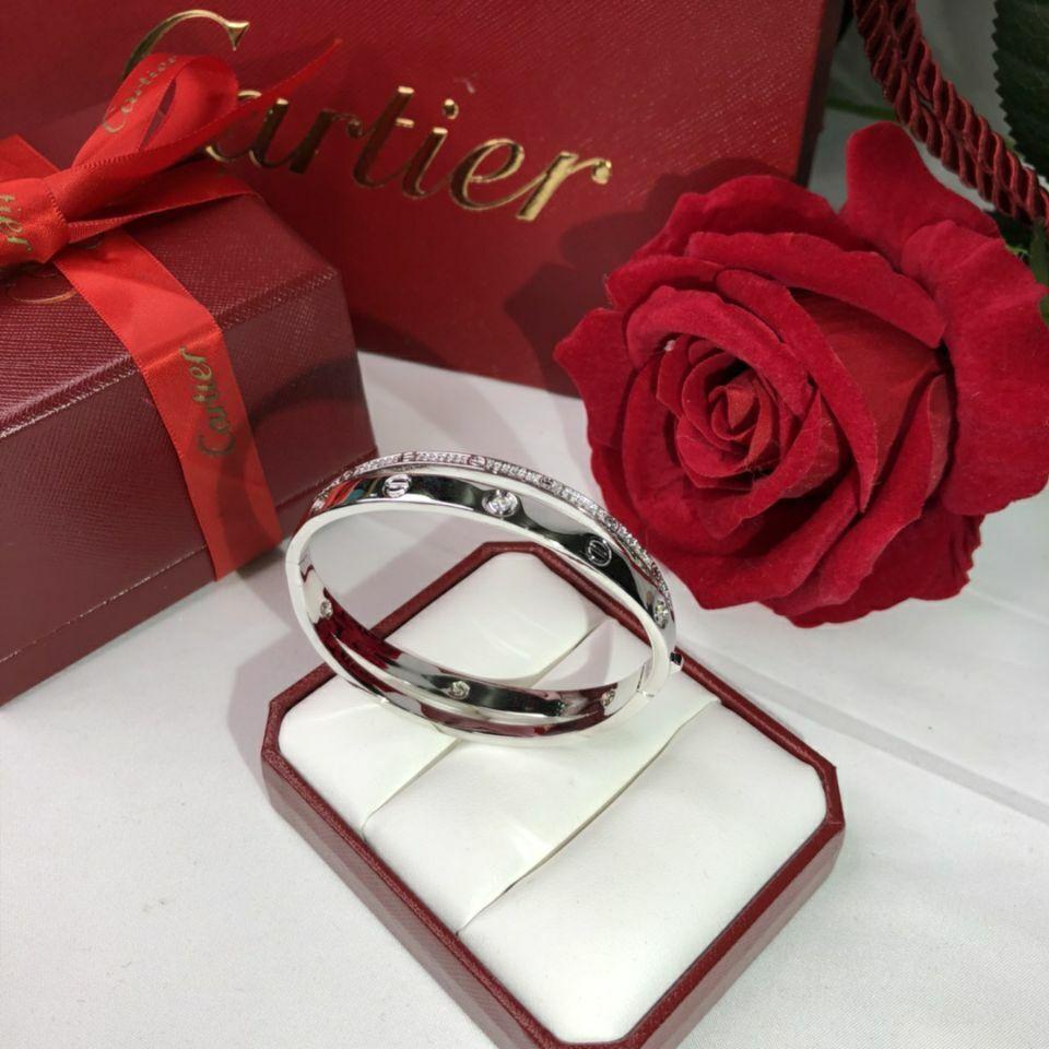 Cartier Love Bracelet Platinum Bracelet (New Screw System)
