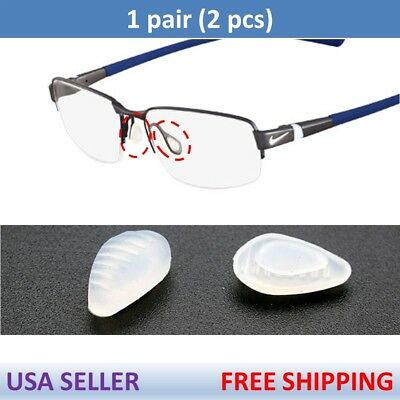 US Seller for Nike Eye Glasses Premium Silicone Nose Pads Nosepads x1 Pair Clear ()