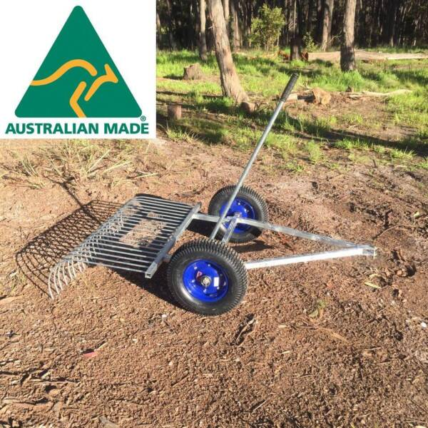 Stick Rake - Tow behind your ride on mower or ATV | Lawn Mowers