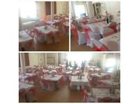 Wedding and Party chair covers and decorations from 0.70p!