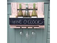 Hand-Crafted Wine Rack