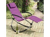 Orbit Relaxer Purple Rocking Chair