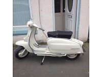 Lambretta li125 200cc. Logged as 125. Mint condition like new