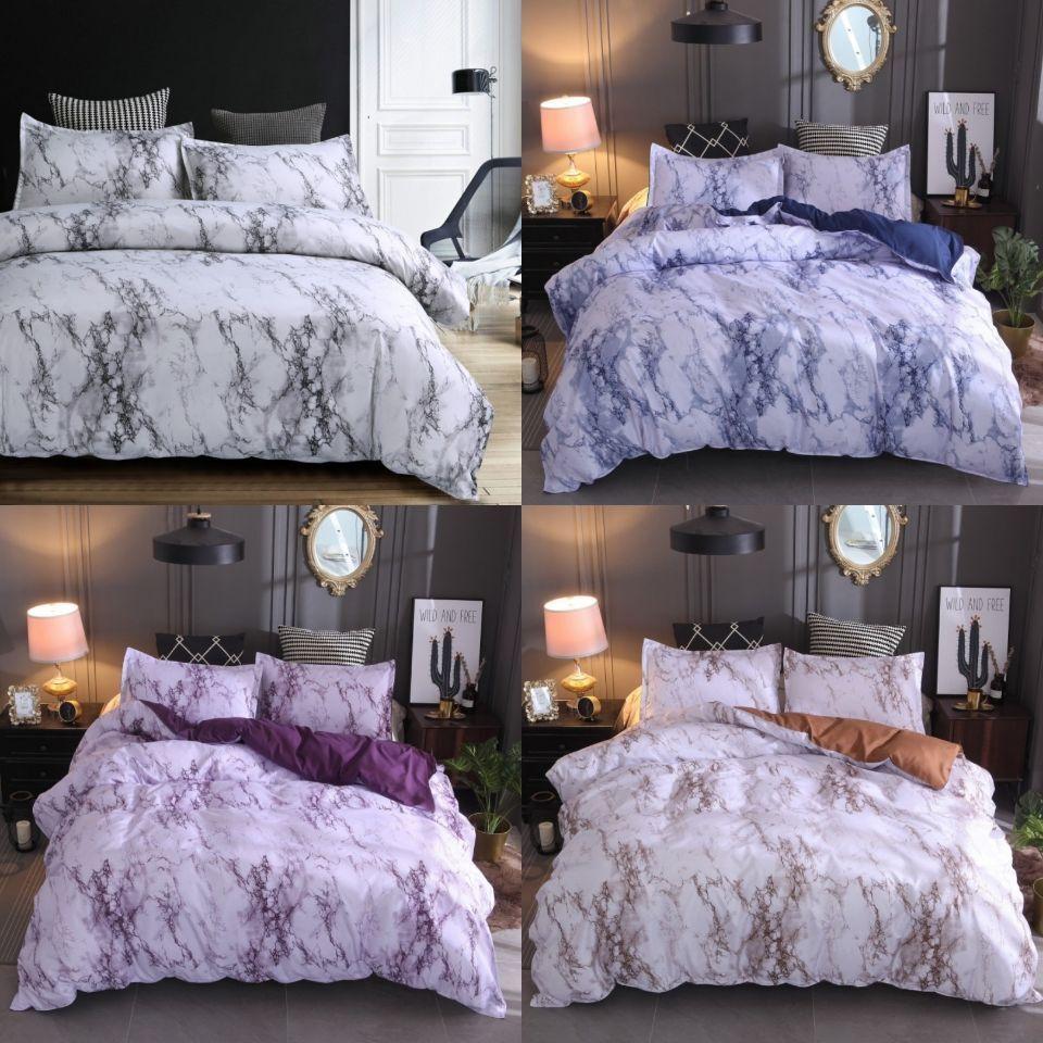 Marble Duvet Cover Quilt Cover Modern Bedding Set Bohemian M
