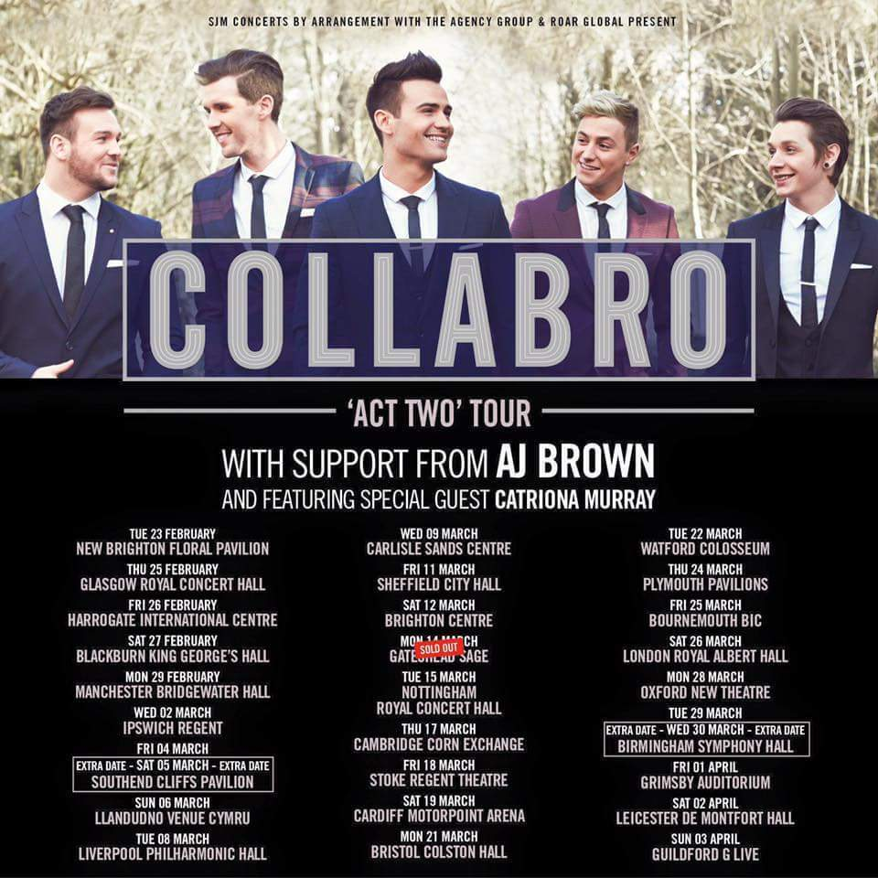 Collabro Vip Meet And Greet Leicester 2nd April Open To Offers