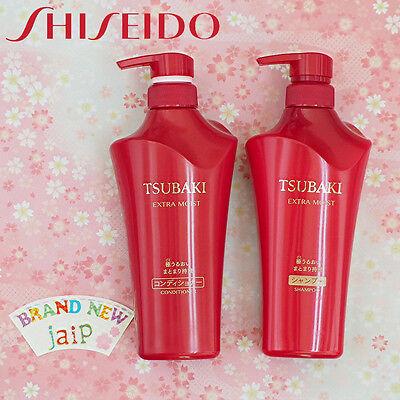 TSUBAKI☆SHISEIDO Japan-Extra Moist Hair Shampoo + Conditioner 500mL SET,JAIP