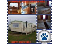 2x 6 berth caravans for rent on happy fays chapel st leonards