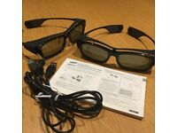 Samsung LED TV 3D Active Glasses - 3 pairs
