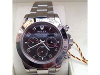 New Boxed black dial and silver bracelet Rolex Daytona Comes Rolex Bagged and Boxed With paperwork