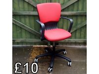 Red Adjustable Office/Computer Chair