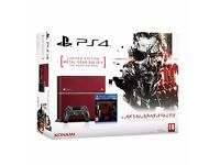 SONY Playstation 4 PS4 Metal Gear Solid V: The Phantom Pain Collector Edition Console Rare New 500GB