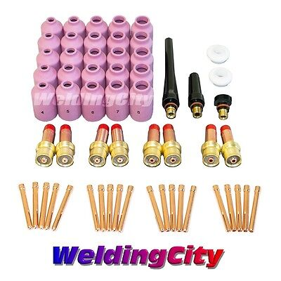 58-pcs Tig Welding Torch 171826 Kit Gas Lens Setup 04018 Tak21 Us Seller
