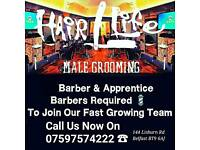 Barber & Apprentice Barbers Required