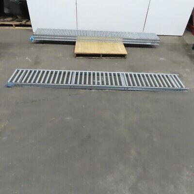 18 X 10 Galvanized Steel Gravity Conveyor 16bf 1.375 Roller 3 Spacing