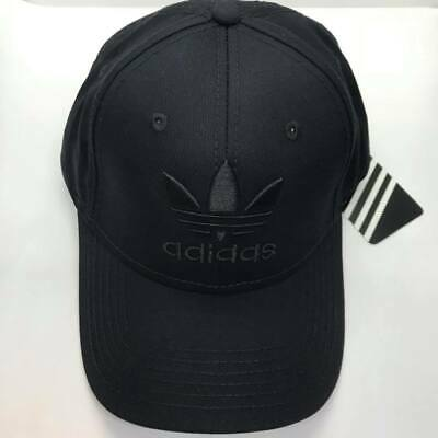 Black Adidas Baseball Cap Trefoil Logo One Size Unisex Brand New Adjustable SALE