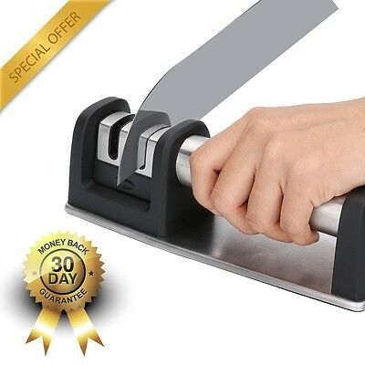 Knife Sharpener 2 Stage Professional Chefs Choice System Home Kitchen Tool New