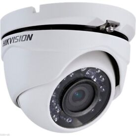 Hikvision dome security cameras x2