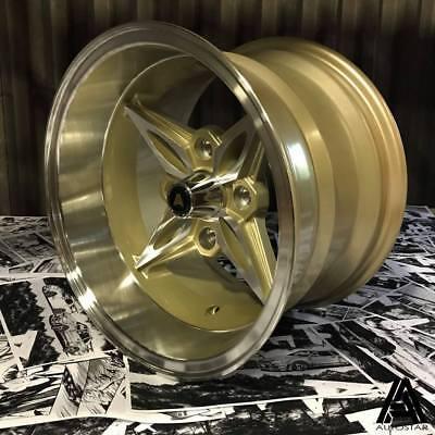 "Autostar 14"" 8"" / 9"" Kanji 4x114 staggered alloy wheels AE86 RWD Japanese"