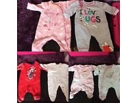 Girls Newborn First Size 0 Months Clothing Bundle