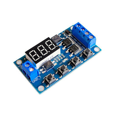 1pcs 12v 24v 5-36v Trigger Cycle Timer Delay Switch Dual Mos Tube Control Module