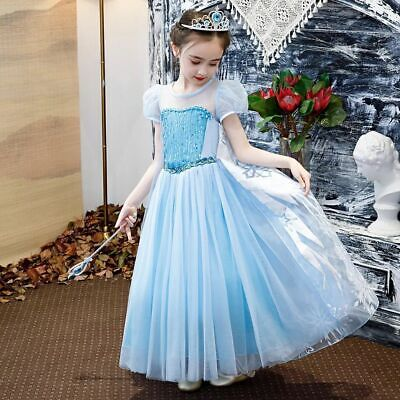 Frozen Elsa High quality Girls Inspired Princess Dress Party Fancy Dress Costume](Elsa Dress Girls)