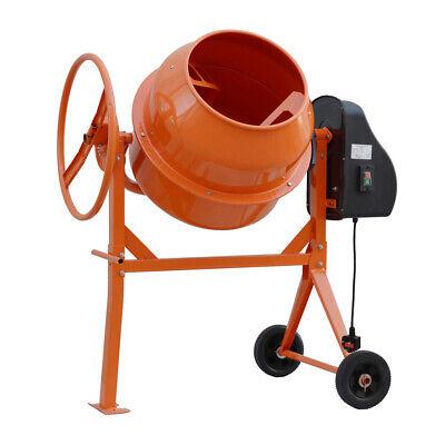 Electric Cement Mixer 120/140 Litre Portable Concrete Mortar Mixing Machine 220V