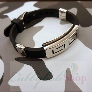 Cubbyhole24-Slippy-Hollow-Men-039-s-Silicone-Stainless-Steel-Belt-Bracelet